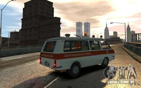 RAF 2203 ambulância para GTA 4 esquerda vista