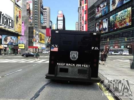 SWAT - NYPD Enforcer V1.1 para GTA 4 traseira esquerda vista
