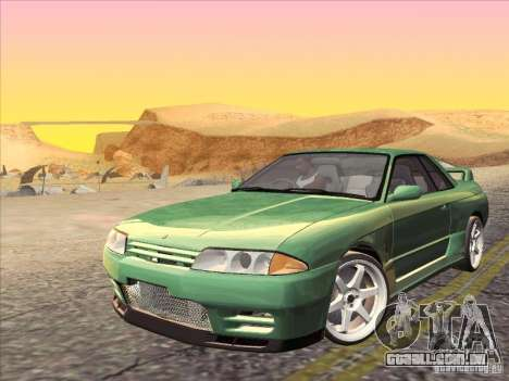 Nissan Skyline GT-R 32 1993 para GTA San Andreas vista superior
