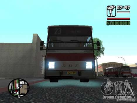 DAF CSA 1 City Bus para GTA San Andreas esquerda vista