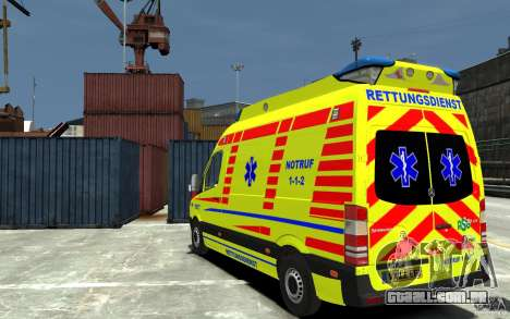 Mercedes-Benz Sprinter 2011 Ambulance para GTA 4 traseira esquerda vista
