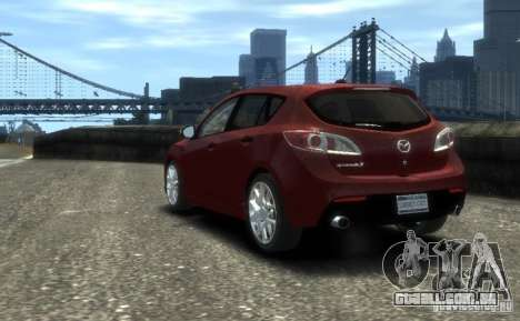 Mazda Speed 3 2010 para GTA 4 esquerda vista