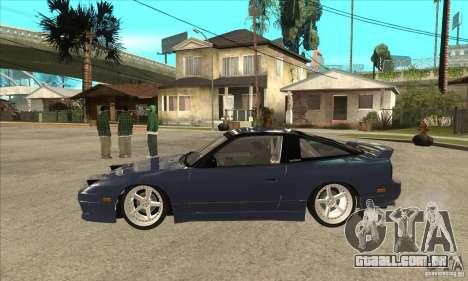 Nissan 180SX Turbo JDM para GTA San Andreas esquerda vista