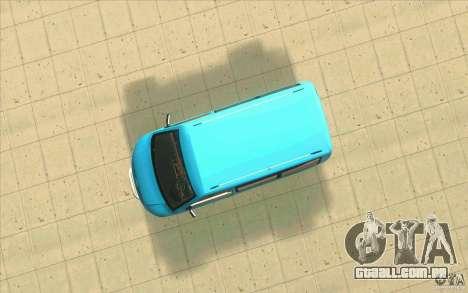 Volkswagen Caravelle para GTA San Andreas vista traseira