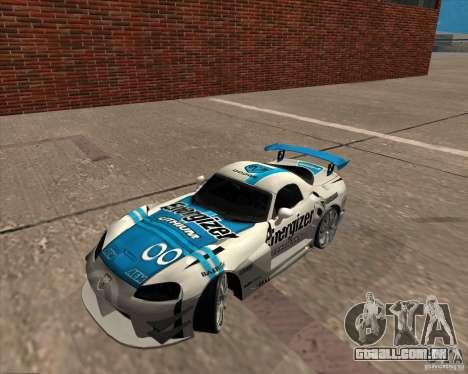 Dodge Viper Energizer para GTA San Andreas traseira esquerda vista