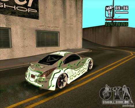 Nissan 350Z Pro Street para GTA San Andreas esquerda vista