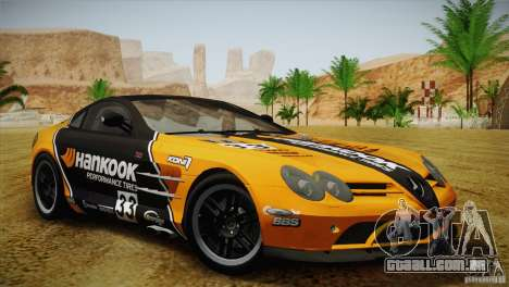 Mercedes SLR McLaren 722 Edition Final para GTA San Andreas vista superior
