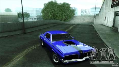 Mercury Cougar Eliminator 1970 para GTA San Andreas vista traseira