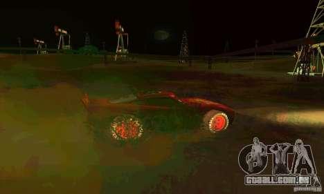 MCQUEEN from Cars para GTA San Andreas vista superior