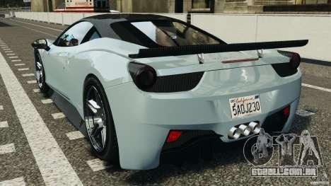 Ferrari 458 Italia 2010 [Key Edition] v1.0 para GTA 4 traseira esquerda vista