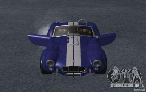 Shelby Cobra 427 para GTA San Andreas vista interior