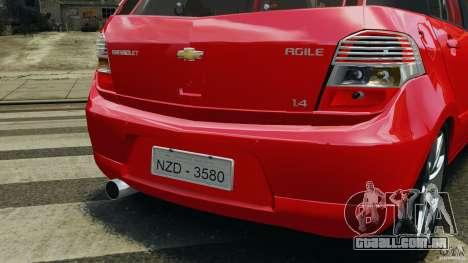 Chevrolet Agile para GTA 4 rodas