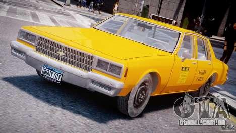 Chevrolet Impala Taxi 1983 [Final] para GTA 4
