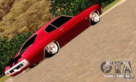Chevrolet Chevelle 1970 para GTA San Andreas vista inferior