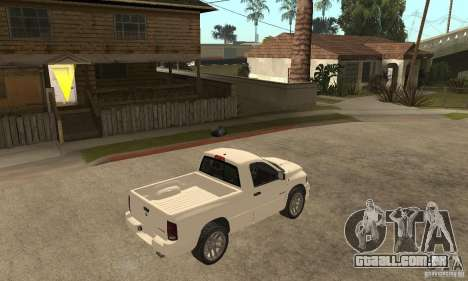 Dodge Ram SRT 10 para GTA San Andreas vista direita