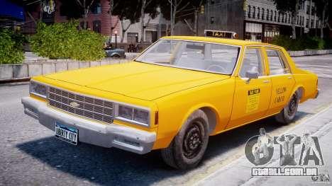 Chevrolet Impala Taxi 1983 para GTA 4 vista interior