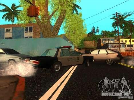 Dodge Diplomat 1985 LAPD Police para GTA San Andreas esquerda vista