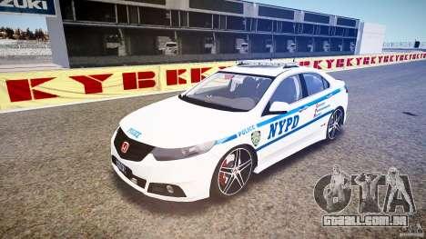 Honda Accord Type R NYPD (City Patro 1950l) ELS para GTA 4