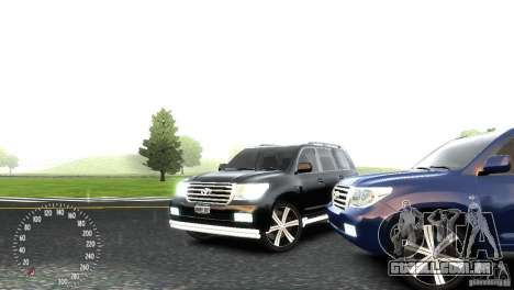 Toyota Land Cruiser 200 RESTALE para GTA 4 vista lateral