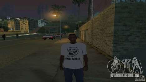 t-shirt é uma cara de Troll para GTA San Andreas