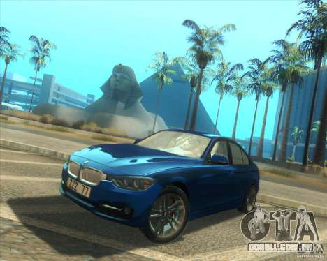 BMW 3 Series F30 2012 para GTA San Andreas