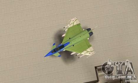 Eurofighter 2010 para GTA San Andreas vista direita