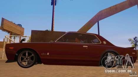 Nissan Skyline GT-R 2000 para GTA San Andreas traseira esquerda vista