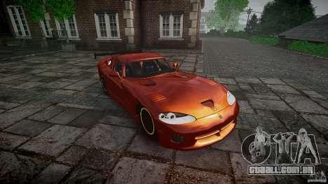 Dodge Viper 1996 para GTA 4 vista de volta