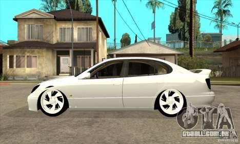 Lexus GS300 V 2003 para GTA San Andreas traseira esquerda vista