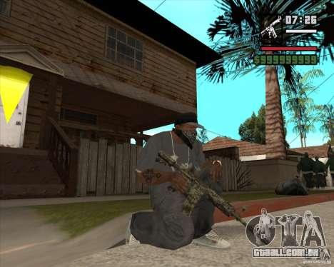 M4A1 Camo para GTA San Andreas terceira tela