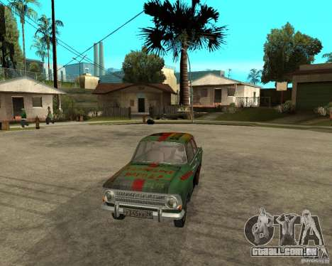 Bloodring Moskvich 412 para GTA San Andreas vista traseira