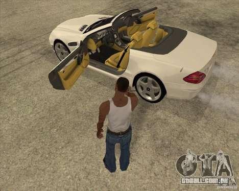 Mercedes Benz AMG SL65 V12 Biturbo para GTA San Andreas vista interior