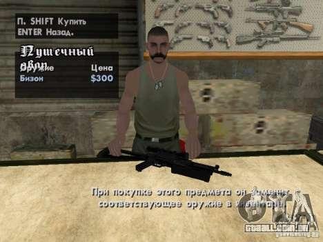 Armas de Pak domésticos para GTA San Andreas quinto tela