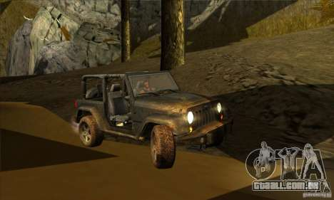 Jeep Wrangler para GTA San Andreas vista interior