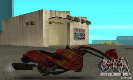 Bicicleta nova de Star Wars para GTA San Andreas esquerda vista