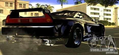 Acura NSX Tuned para GTA San Andreas vista traseira