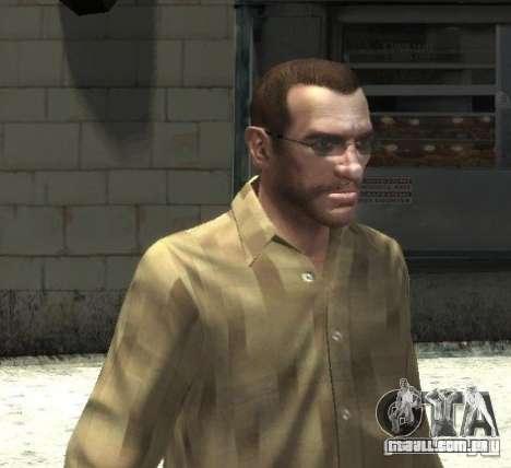 Novos óculos para Niko-brilhante para GTA 4 terceira tela