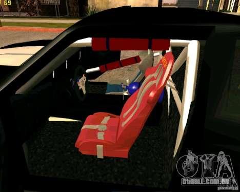 Hotring Racer Tuned para GTA San Andreas interior