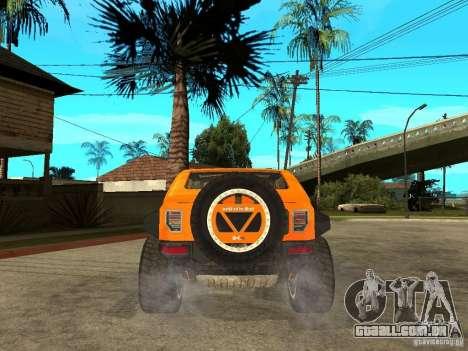 Hummer HX Concept from DiRT 2 para GTA San Andreas traseira esquerda vista