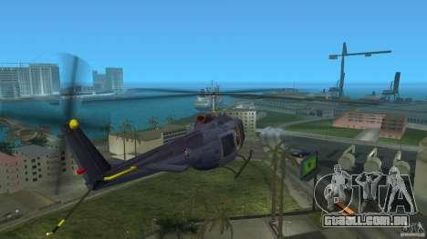 Maverick Bell-Huey para GTA Vice City vista traseira esquerda