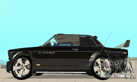 Tunning de fantasia arte VAZ 2106 para GTA San Andreas traseira esquerda vista