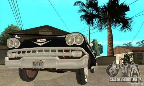 Chevrolet Impala 1958 para GTA San Andreas vista superior