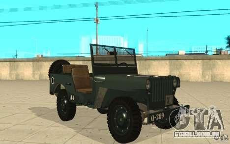 Willys MB para GTA San Andreas