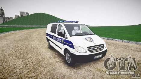 Mercedes Benz Viano Croatian police [ELS] para GTA 4 vista de volta