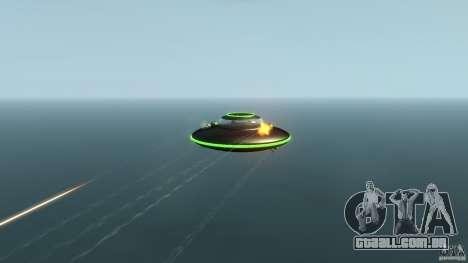 UFO neon ufo green para GTA 4 vista de volta
