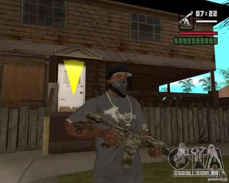 M4A1 Camo para GTA San Andreas segunda tela