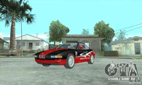 BMW 850i para GTA San Andreas traseira esquerda vista