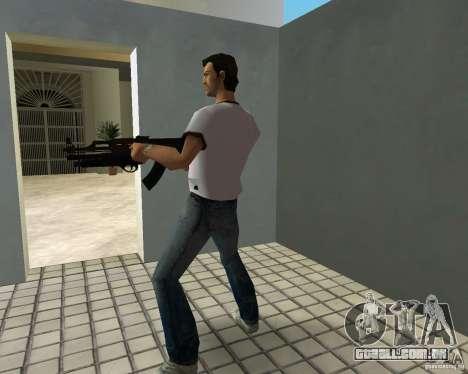 AK-47 com espingarda Underbarrel para GTA Vice City por diante tela