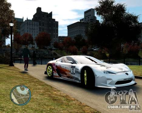 Lexus LFA Speedhunters Edition para GTA 4 vista de volta