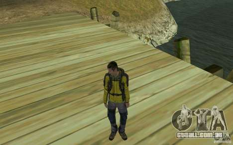 Backpacker HD Skin para GTA San Andreas terceira tela